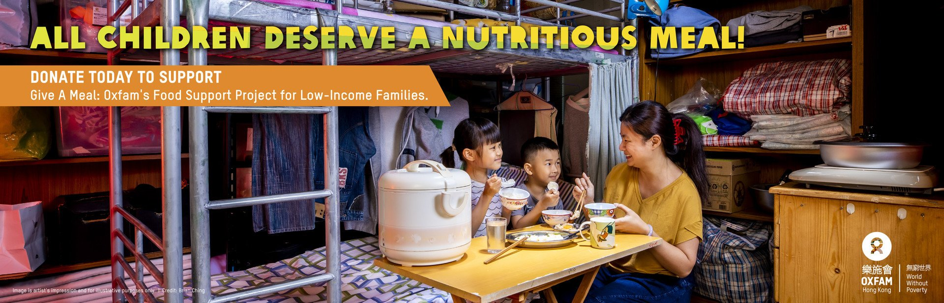 Give A Meal: Oxfam's Food Support Project for Low-Income Families