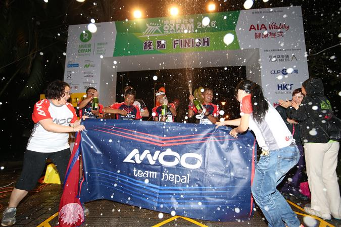'AWOO Team Nepal' (S05) Finished firstcompleted Oxfam Trailwalker 2016 in just 11 hours 1 minute