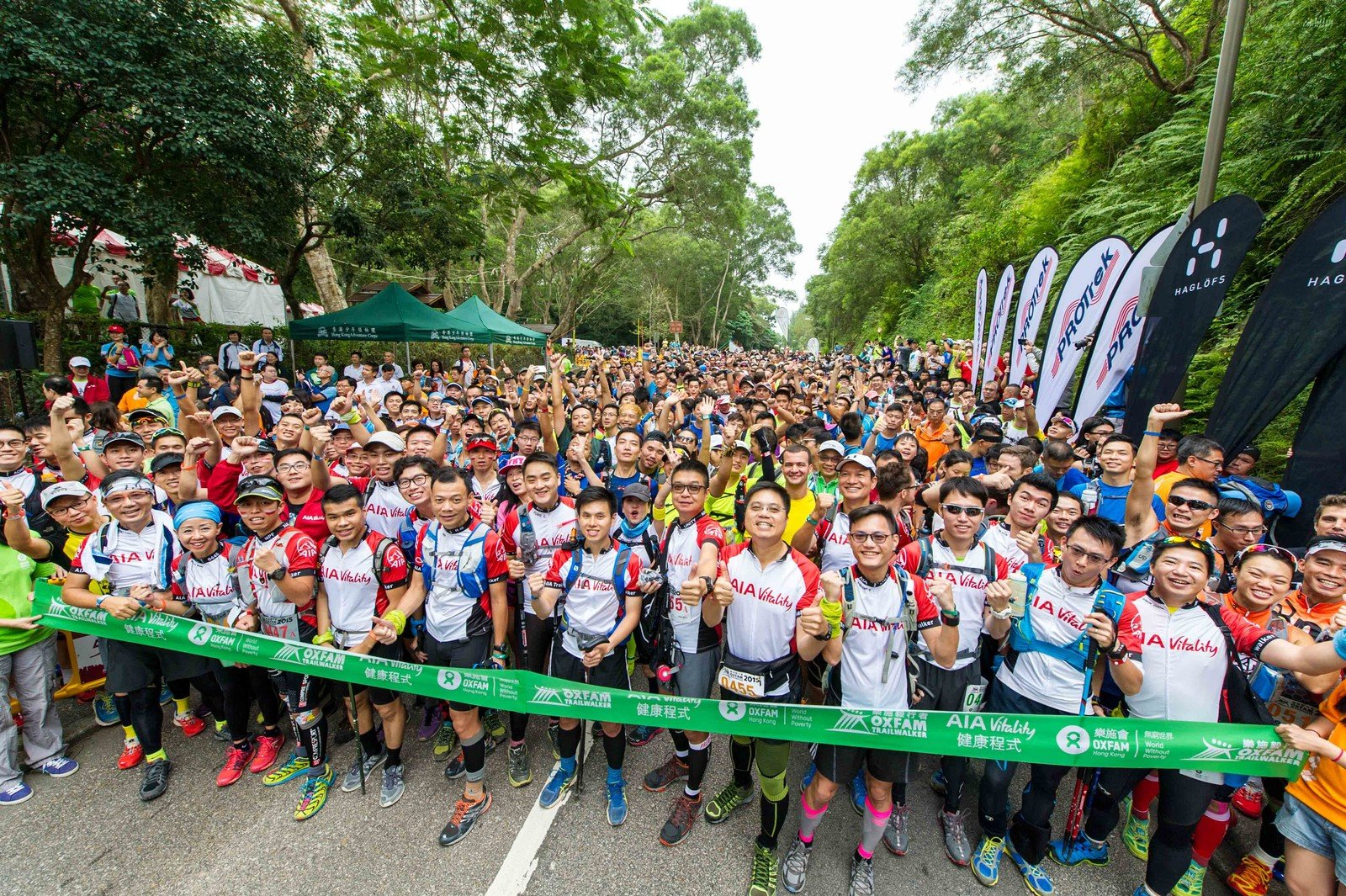 A total of 5,200 walkers are undertaking the 100 km challenge and will trek along the MacLehose Trail and other trails in teams of four within 48 hours.