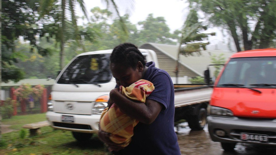 The highly populated island of Efate, which includes the Vanuatu capital Port Vila, was directly in the path of the cyclone, as were a number of outer islands. (IssoNihmei/350.org)
