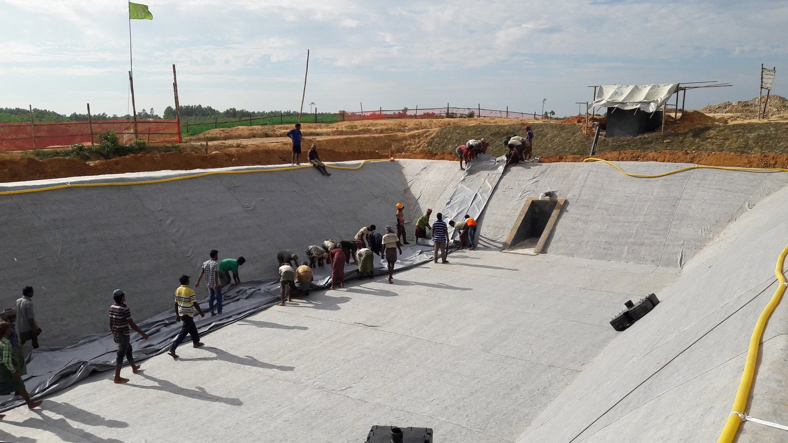 This waste treatment plant was built by Rohingya refugees and Oxfam's engineers.