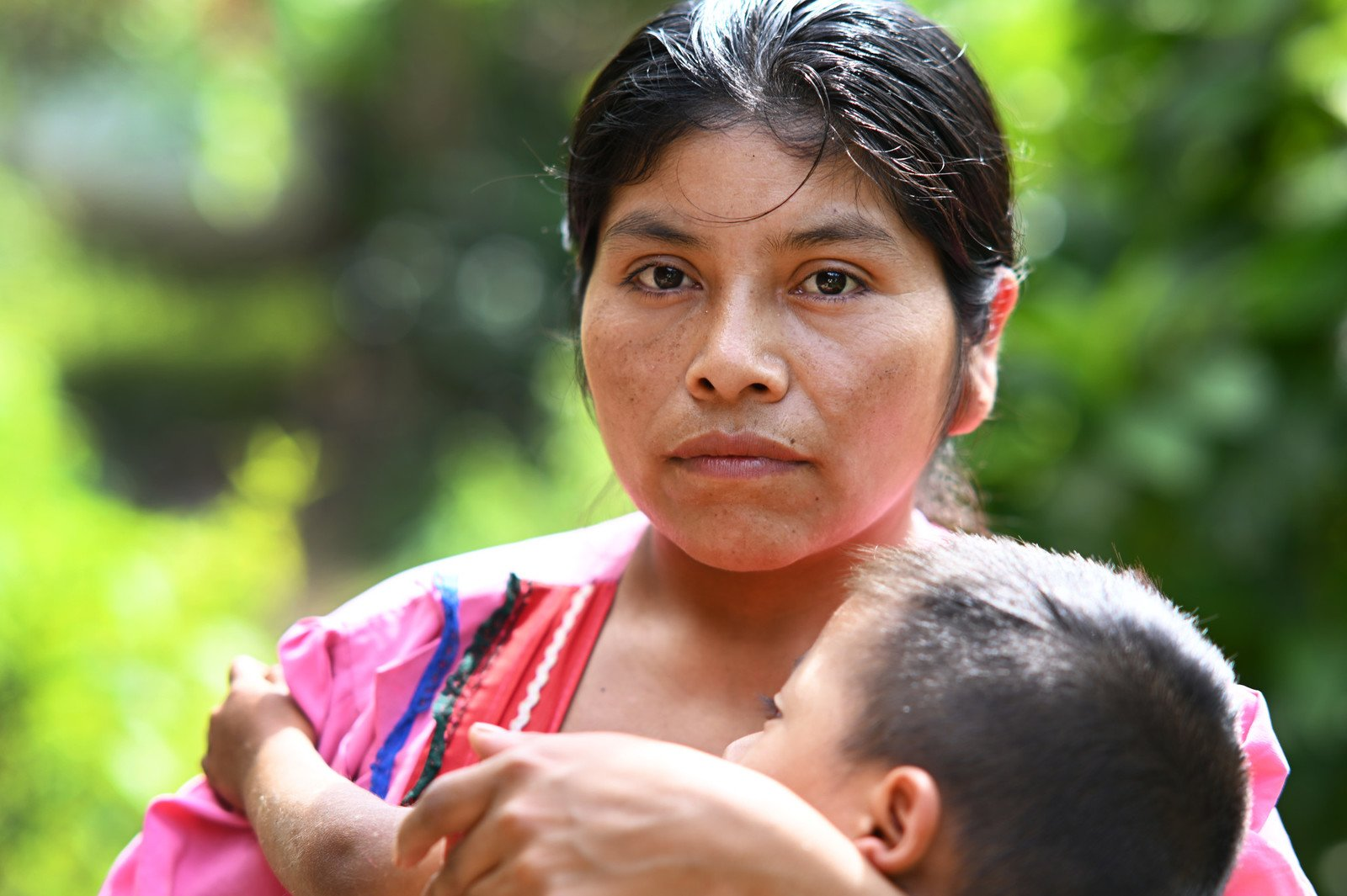 'We spent almost eight days enduring starvation', Mariana said. In the community of Naranjo in Guatemala, climate change is leaving people with nothing to eat. With no other option, Mariana's husband and her 20-year-old son walked for 20 days towards the United States in search of work. They had to sell their land and take on debt to pay for the journey. When her husband sends money back, some of it is used to pay off the debt and the rest goes towards the family's survival. (Photo: Valerie Caamaño / Oxfam)