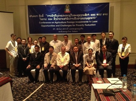 International Conference on Foreign Investments in the Agricultural Sector of the Lao PDR held in Vientiane by Oxfam and the Faculty of Agriculture of the National University of Laos on 7-8 March 2013.