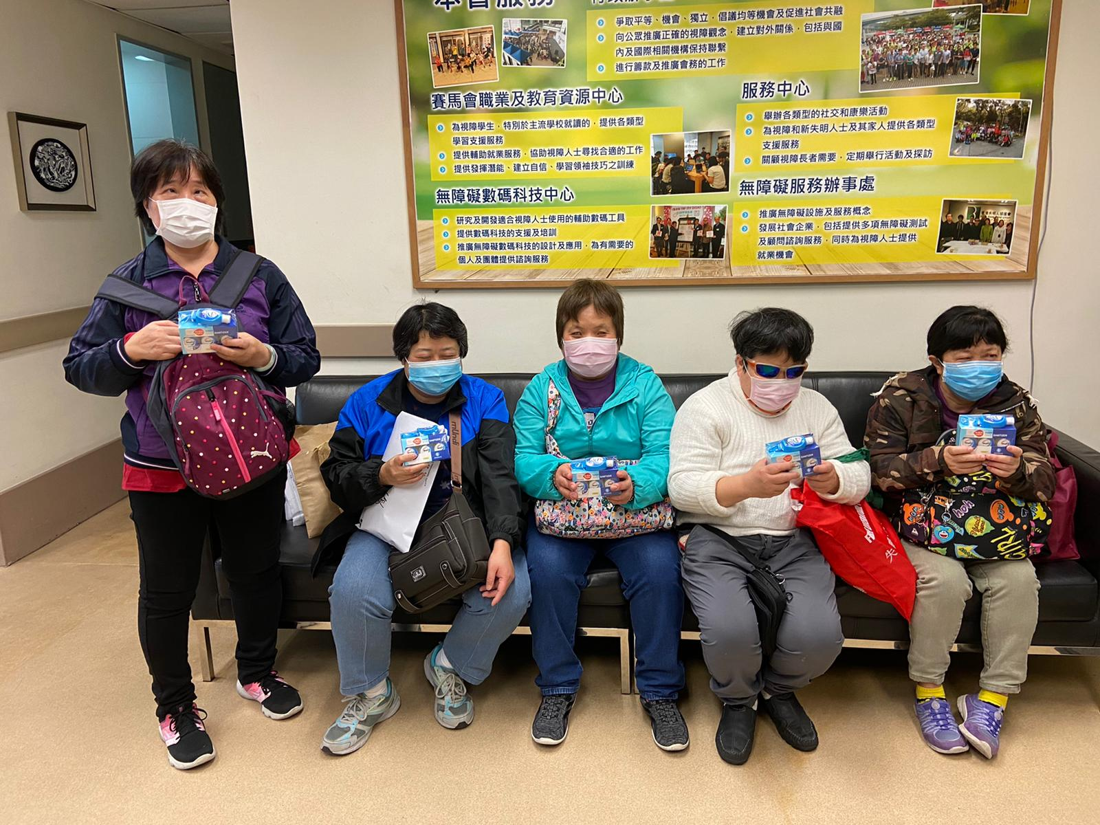 The visually impaired individuals' sense of touch is crucial. With the shortage of disinfectant, however, they're at greater risk of catching the virus when they go out. It's especially crucial for them that they have hand sanitizer and wipes.。