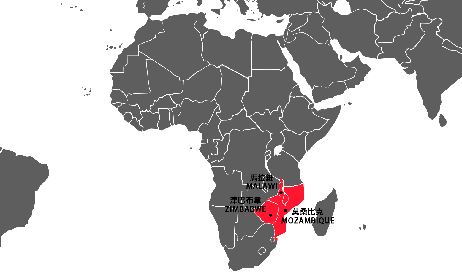 Cyclone Idai map